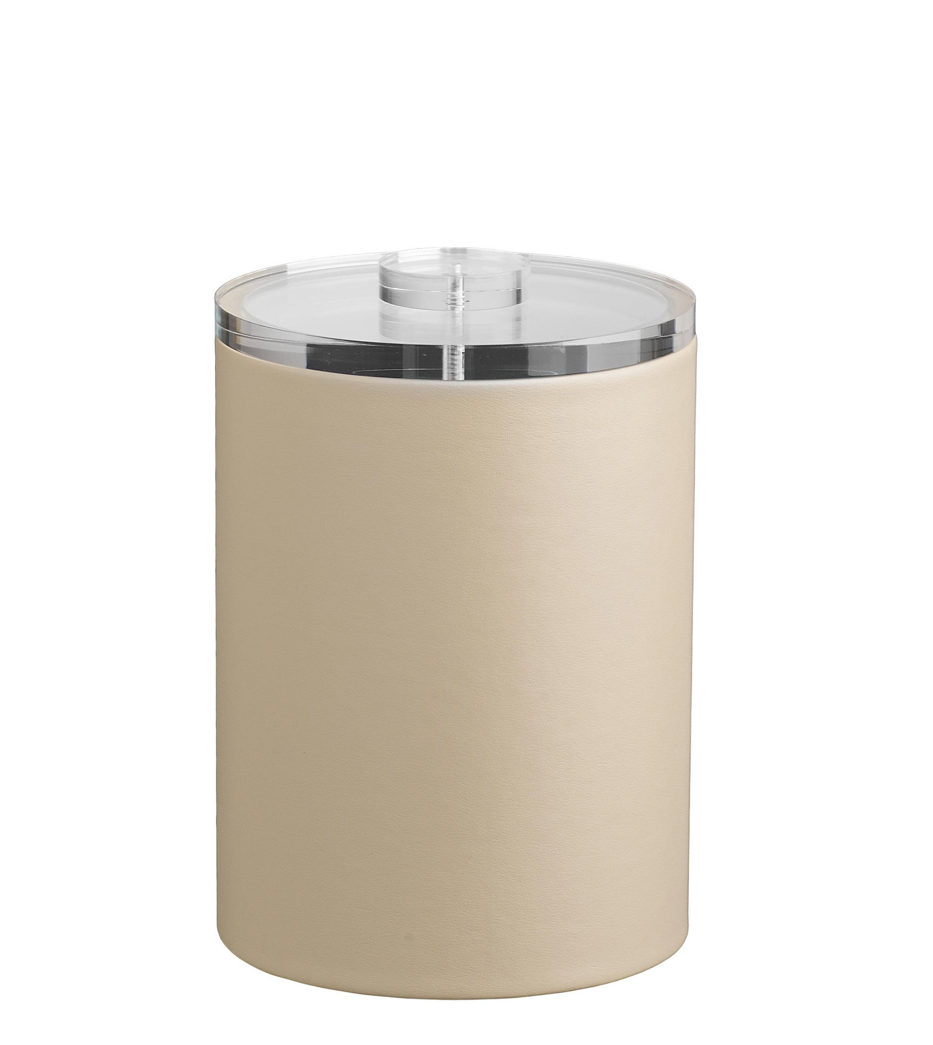 Kraftware Grant Signature Home Contempo Collection 2-Quart Ice Bucket with Lucite Lid - Beige