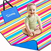 Lantoo Extra Large Outdoor Picnic Blanket 79 x79 , Extra Soft Portable Beach Blanket Mat W/Compact Tote, Foldable, Machine Washable Camping Hiking Travel