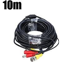 FLOUREON BNC Câble 10M DC Vidéo Câble d'alimentation 32.8 Pieds CCTV Caméra Câble pour Système de Sécurité/Kit de Vidéosurveillance/DVR (10M)