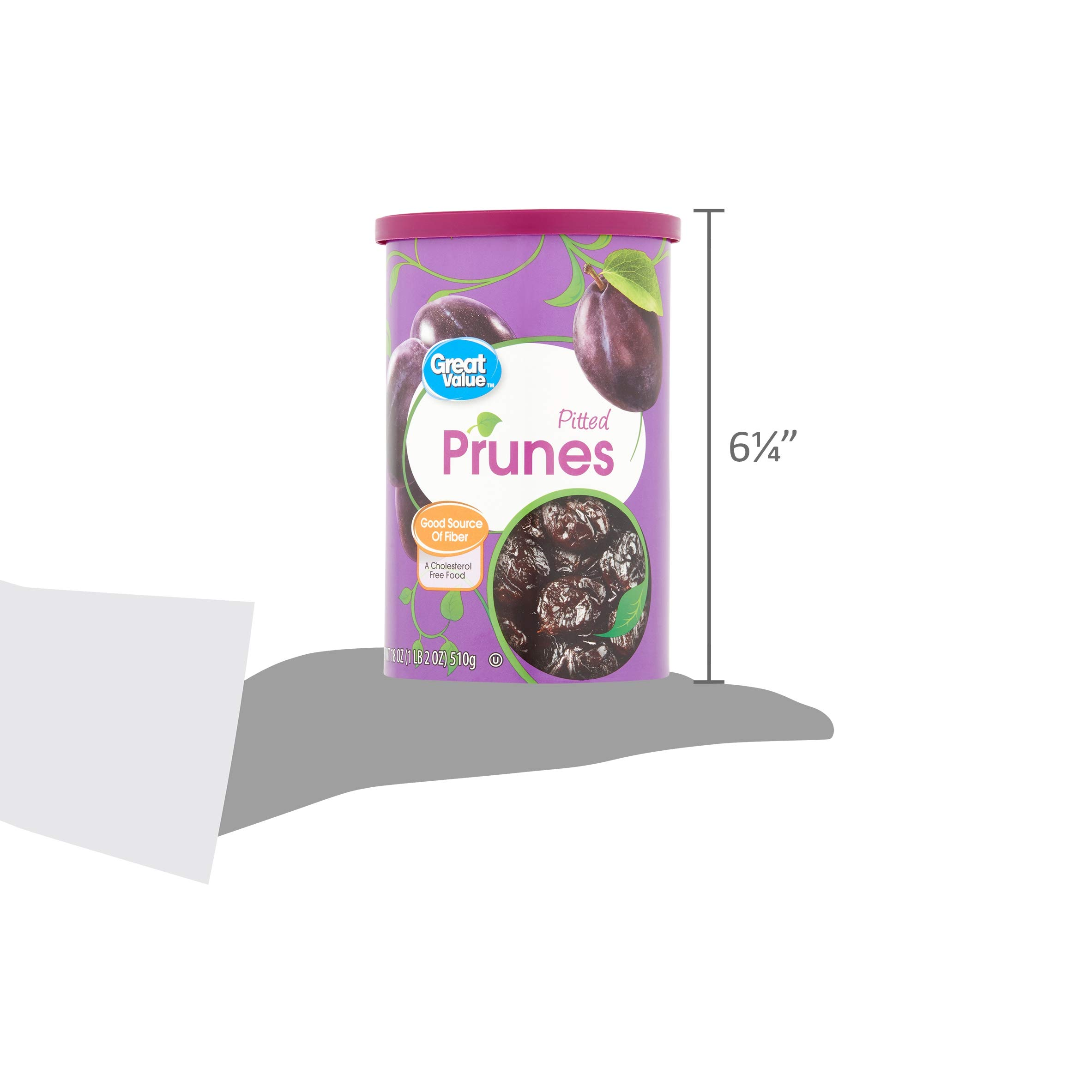 18 Oz Great Value Pitted Dried Prunes (Pack of 2)