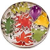 Städter 023338 Lot de 7 emporte-pièces en forme de feuilles Fer-blanc
