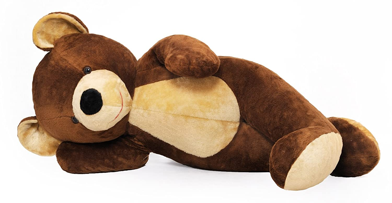 Grand nounours brun 155cm, peluche géante énorme!: Amazon.co.uk ...
