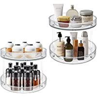 VAEHOLD 2 Tier Lazy Susan 2 Pack, Turntable Spice Rack Organizer for Kitchen Cabinet Pantry Storage, Farmhouse Tiered…