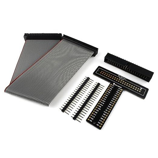 """2 opinioni per RPi GPIO T-Cobbler, Kit scheda Breakout Board con cavo a nastro 40 pin da 8"""","""