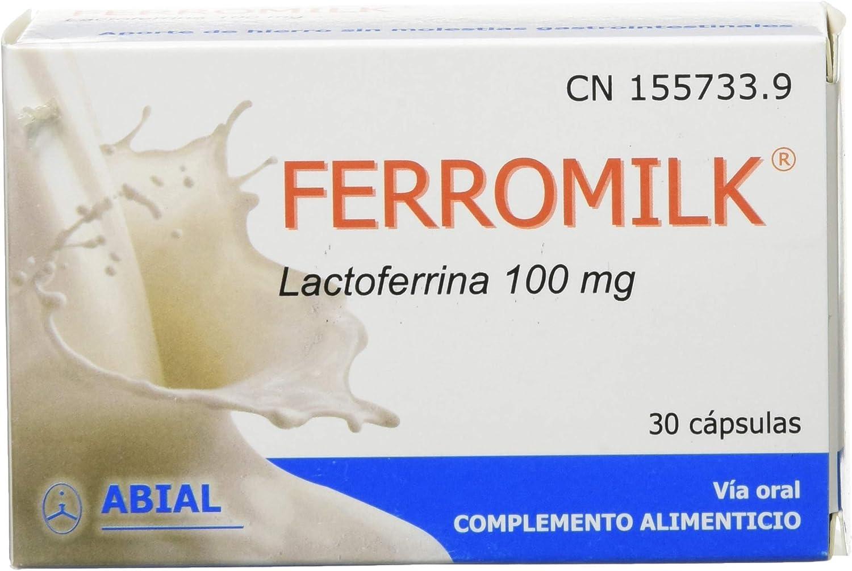 Abial FERROMILK Lactoferrina 100 mg, 30 cápsulas