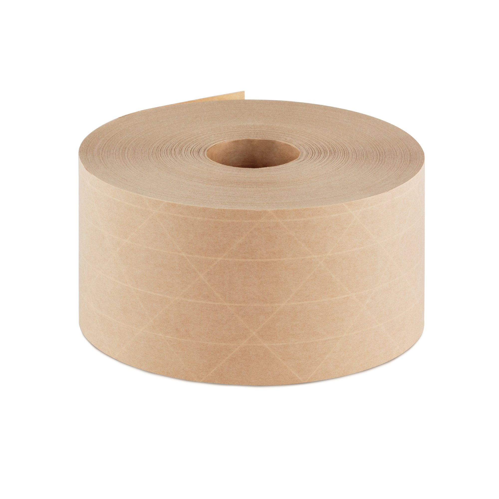 Crowell Reinforced Gummed Kraft Paper Tape, Intertape Super Seal Natural 70mm (2.75 inches) x 375 Feet Roll - Commercial use for Box Packaging and Sealing Commercial Quality #233