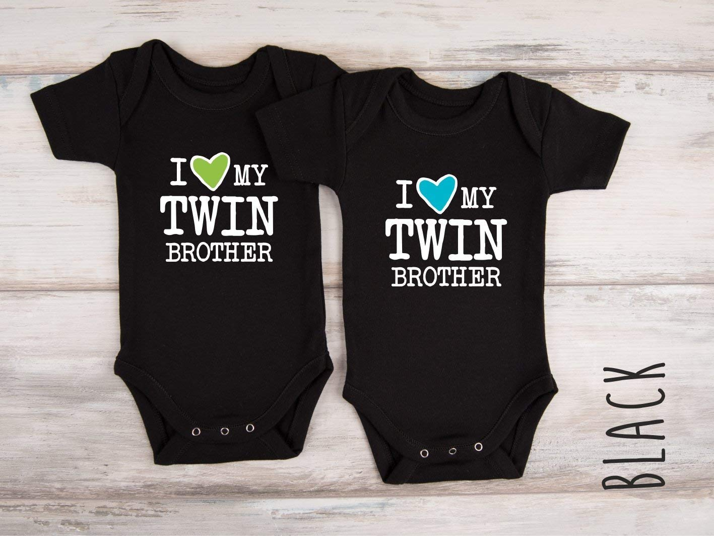 e1d36b631ba Twin boy outfits i love twin brother set of matching bodysuits handmade jpg  1417x1063 Boys matching
