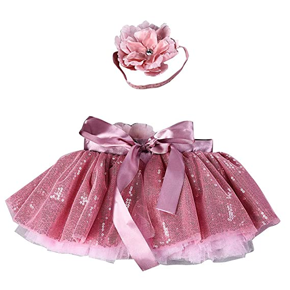 1d7ca31bcdf1 HEETEY Girls Kids Tutu Party Dance Ballet Baby Bling Costume Skirt+ ...