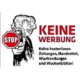 pinkelephant Aufkleber / Briefkastenaufkleber STOP - Keine Werbung - 01 - 74 mm x 52 mm - Zusteller-Schreck