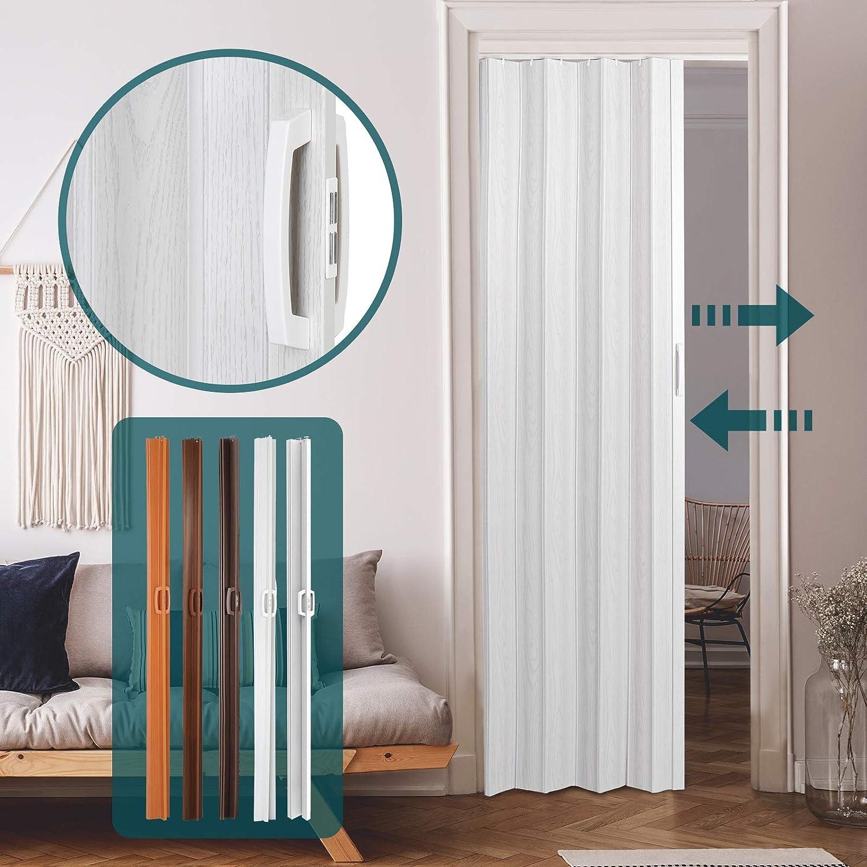 Jago – Puerta plegable de PVC – Roble gris – aprox. 84/8/202 cm: Amazon.es: Bricolaje y herramientas