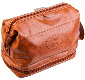 e0605138fb4 Image Unavailable. Image not available for. Color  Protravelone Men s  Cosmetic Travel Bag – Premium Pu Leather Toiletry Bag – Men s Dopp Kit –
