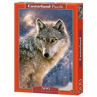 Castorland B-52431 - Puzzle - Loup solitaire - 500 Pièces