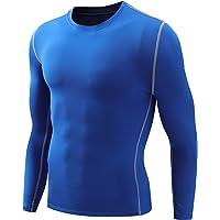 Nooz Men's Subzero Thermal Fleece Lined Compression Baselayer Long Sleeve Shirts