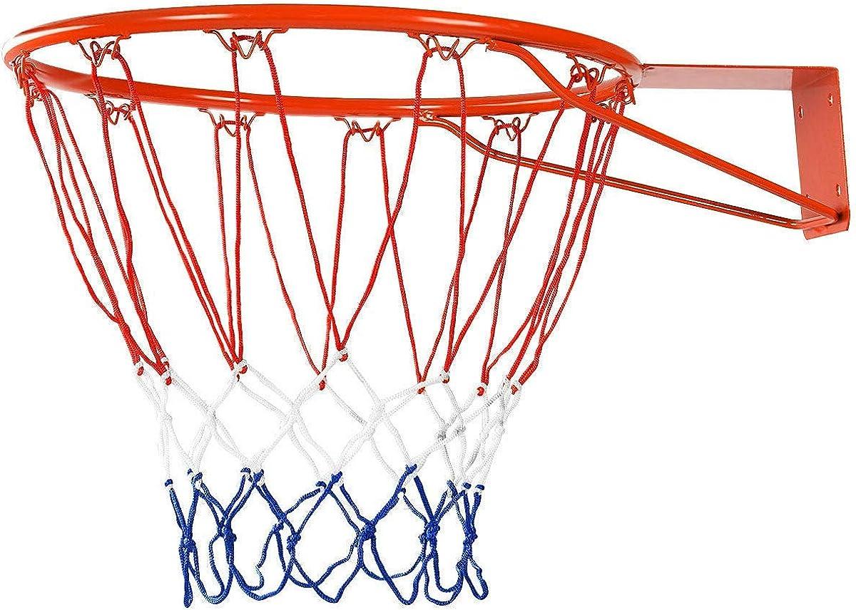 "18/""45cm Basketball Ring Hoop Net WallMounted Outdoor Hanging Backboard Kids Gift"
