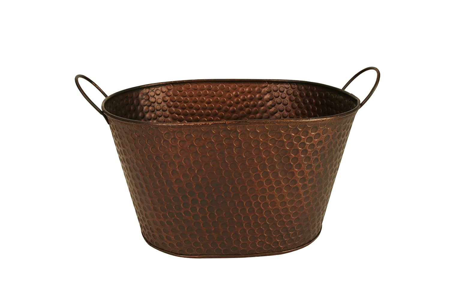 Wald Imports 7105/10B Copper Hammered Metal 10.5 Beverage Bucket/Pail/Tub, Bronze, 10.5 Inch Bowl