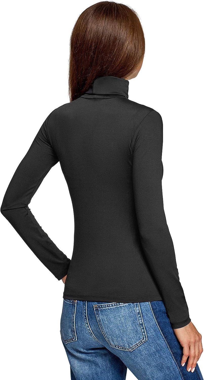oodji Ultra Femme sous-Pull Basique Moulant