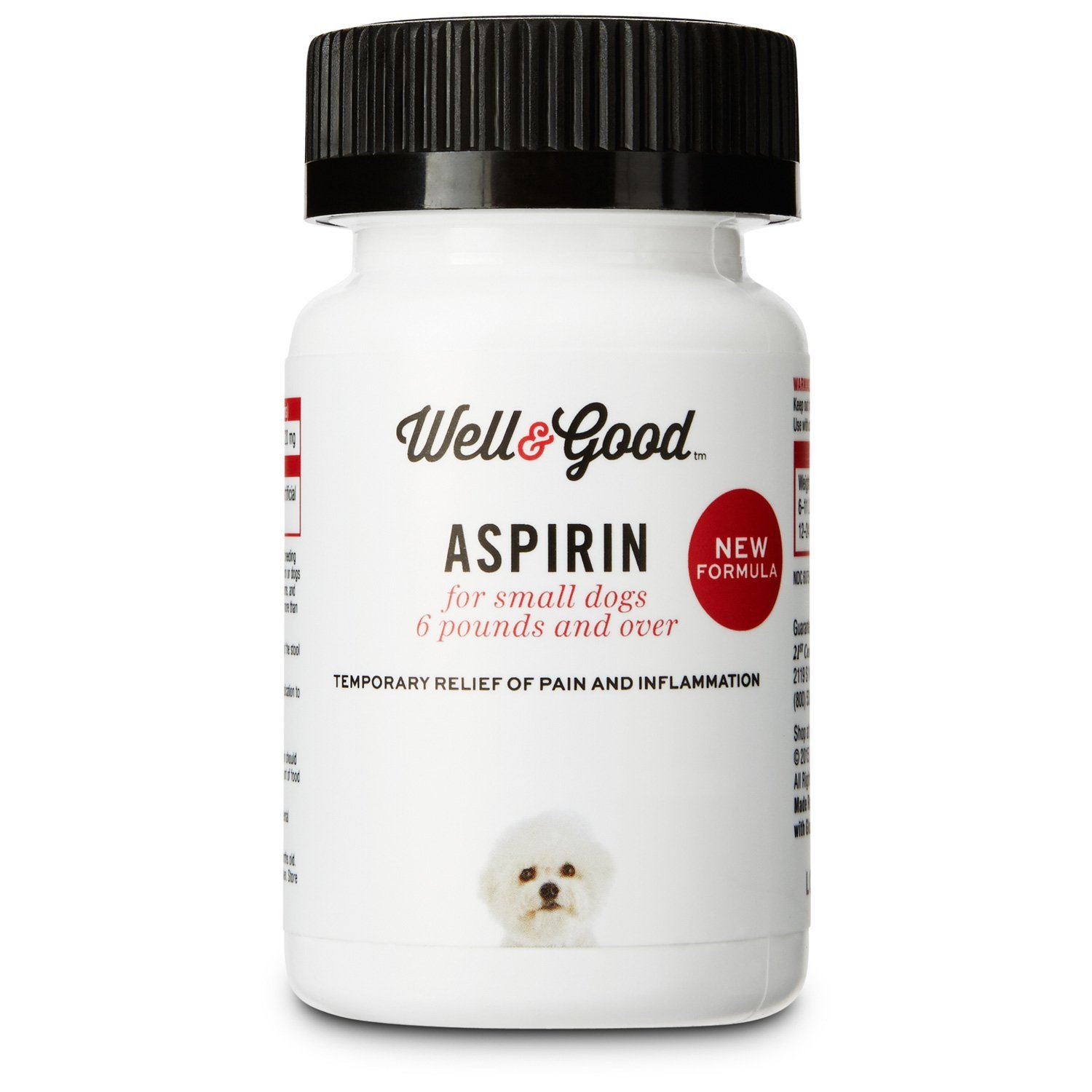 Well & Good Buffered Dog Aspirin, 75 Tablets, for Small Dogs by Well & Good