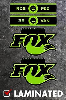 FOX SHOCKS  803-00-929 FOX FLOAT EVOL HERITAGE DECAL KIT GREEN