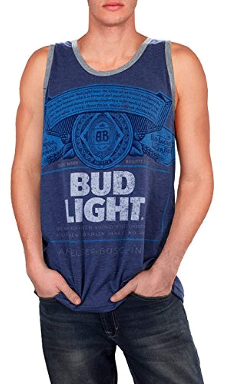 Mens Bud Light Distressed Tank
