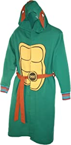 BioWorld Teenage Mutant Ninja Turtles Hooded Robe, L/XL, Green