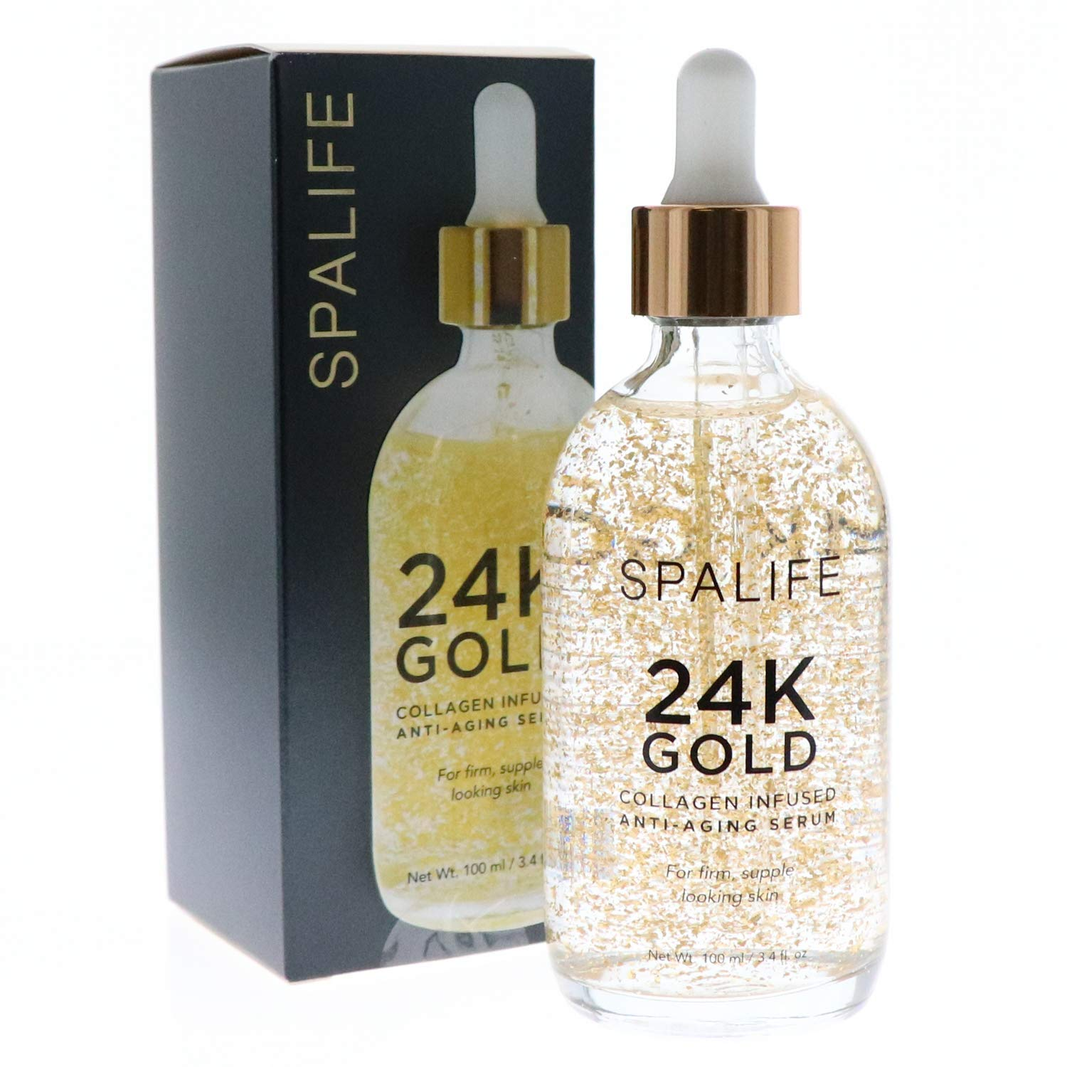 SpaLife Nourishing Anti-Aging Gold & Silver Serums (Anti-Aging 24k Gold & Collagen) 100 ML(3.4 oz)