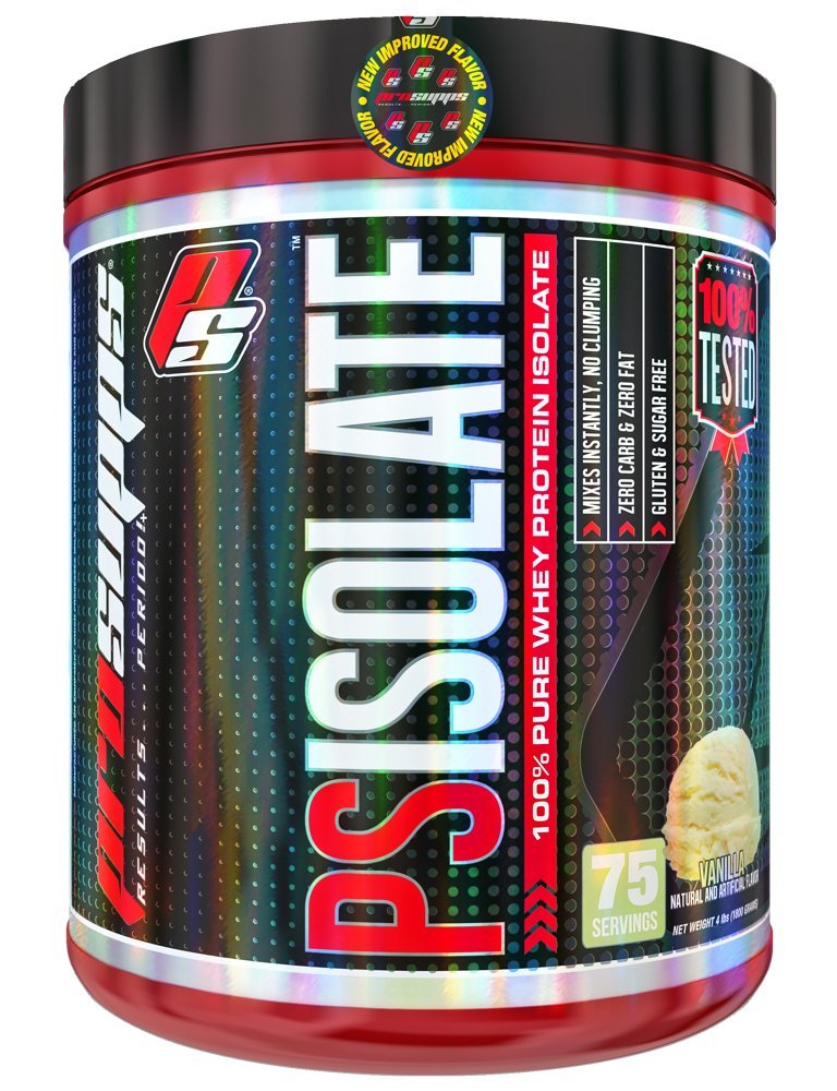 ProSupps PS Isolate, Gluten & Lactose Free, 100% Pure Triple Cold-Filtered Whey Protein Isolate, Mixes Instantly Dissolves Easy, 4 pounds, 5 Great Flavors