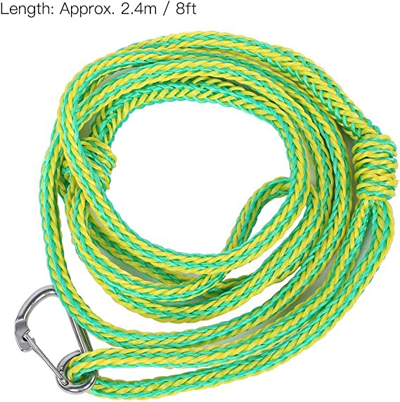 20 Meters Sporting Hiking Tent Canopy,6 mm Boating 2 pcs Multi-functional Nylon Rope,Floating Rope//Anchor Mooring Rope,Braided Polyester Rope with Safety Lock,for Climbing