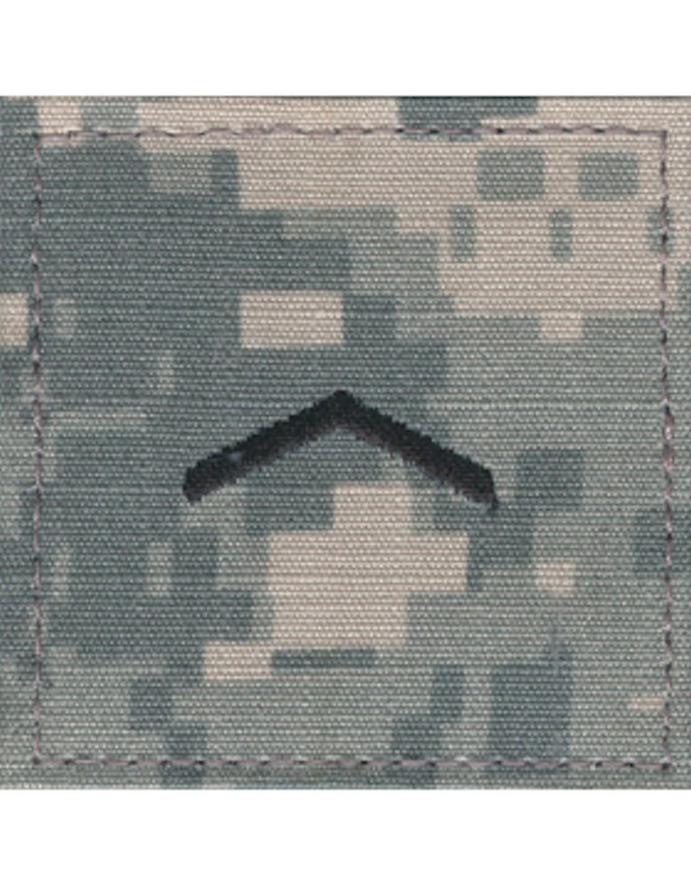 Army ROTC Rank with HOOK Fastener - ACU DIGITAL (Cadet - Private)