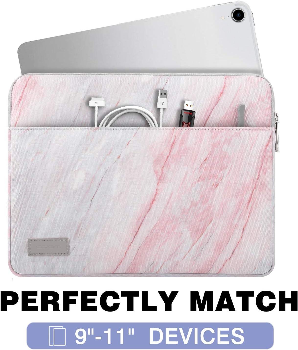Rosa Grau Marmor Schutzh/ülle mit Rei/ßverschluss und 2 Tasche Tablet H/ülle aus Polyesterfaser f/ür 13-13.3 Inch Tablet MoKo Sleeve Tasche f/ür MacBook Air 13 MacBook Pro 13 Inch