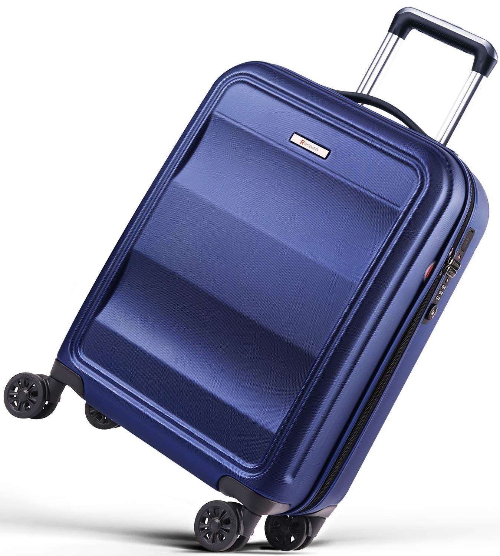 REYLEOValigia Rigida da Viaggio con Porta di Ricarica USB