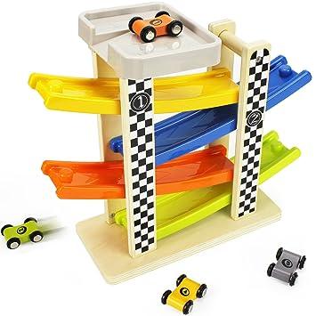 amazon iplay ilearn wooden big r car race track parking Hospital Parking Garage iplay ilearn wooden big r car race track parking garage set learning n