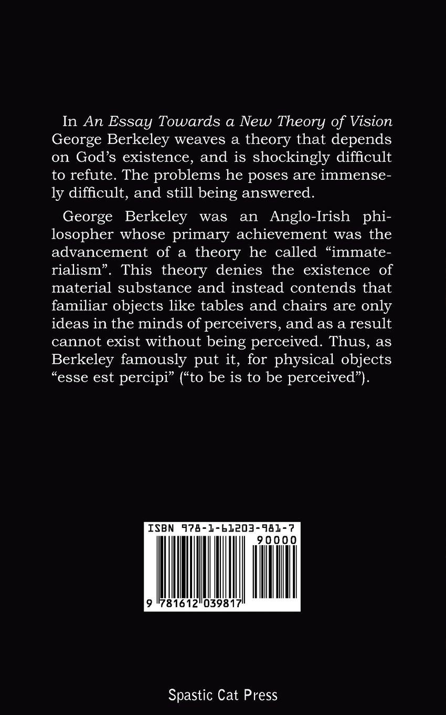 George berkeley an essay towards a new theory of vision   Custom     A Essay Towards a New Theory of Vision   Kindle edition by George Berkeley   Politics   Social Sciences Kindle eBooks   Amazon com