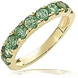 Goldmaid Damen-Ring Memoire 375 Gelbgold 9 Smaragde  Me R5992GG