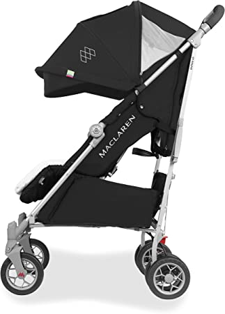Maclaren Techno XLR arc Stroller- Largest umbrella-fold for newborns up to 25kg. extendable hood, extra padded multi position flat seat, 4-wheel suspension. Raincover + Shoulder Pads in the box