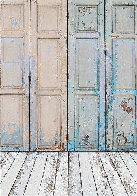 Wandplank 1 Meter.Amazon Com Aofoto 3x5ft Vintage Wooden Door Background Old