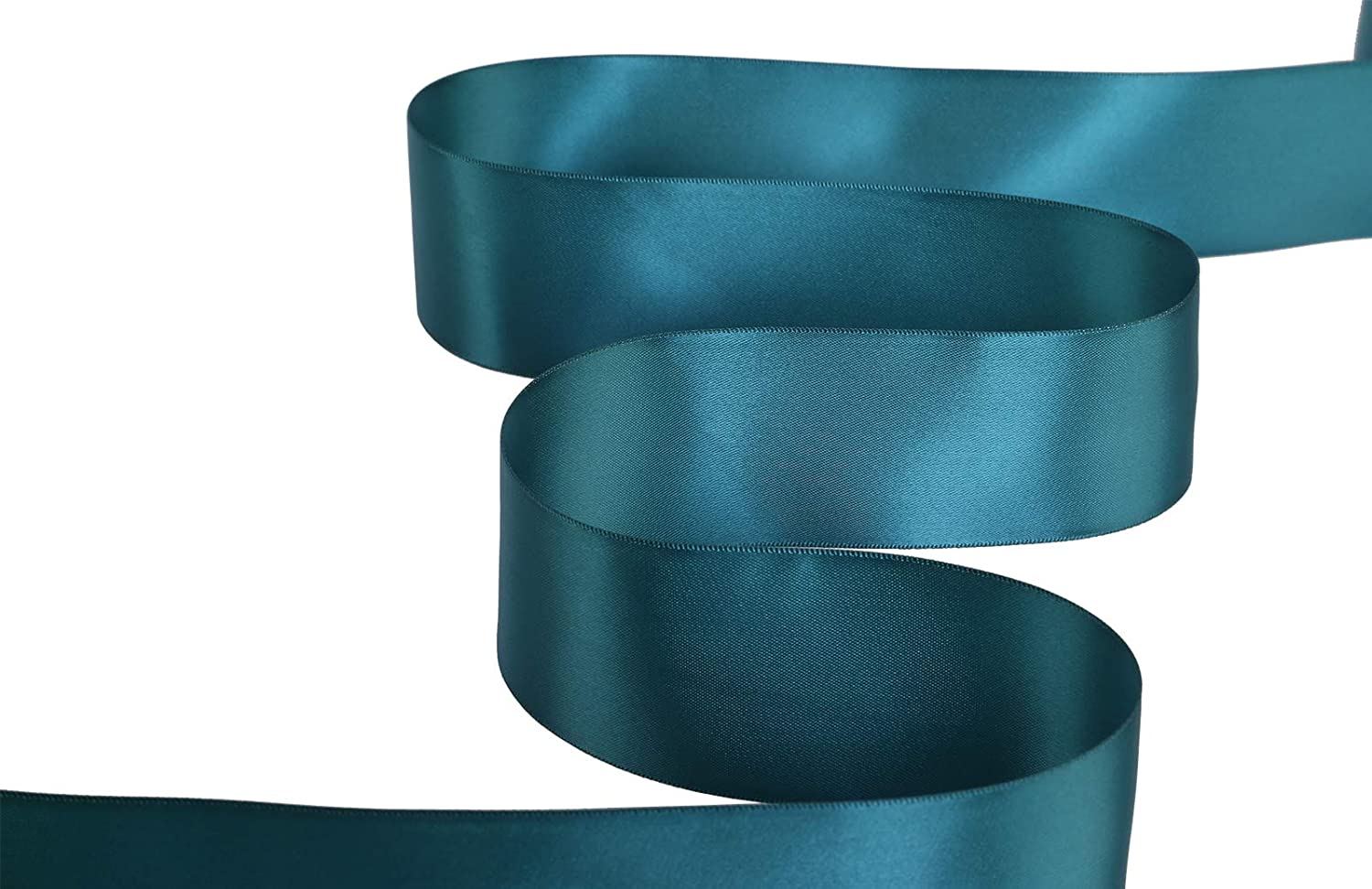 347-Teal), Set For Gift Wrapping, Party Decor, Sewing Applications, Wedding and Craft Ribbonitlux 2 wide Double Face Satin Ribbon 25 Yards