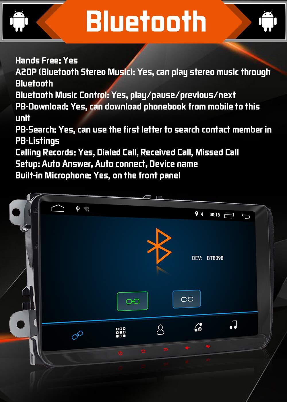 9 Pulgadas Android 8.1 QuadCore Double DIN Car Radio ...