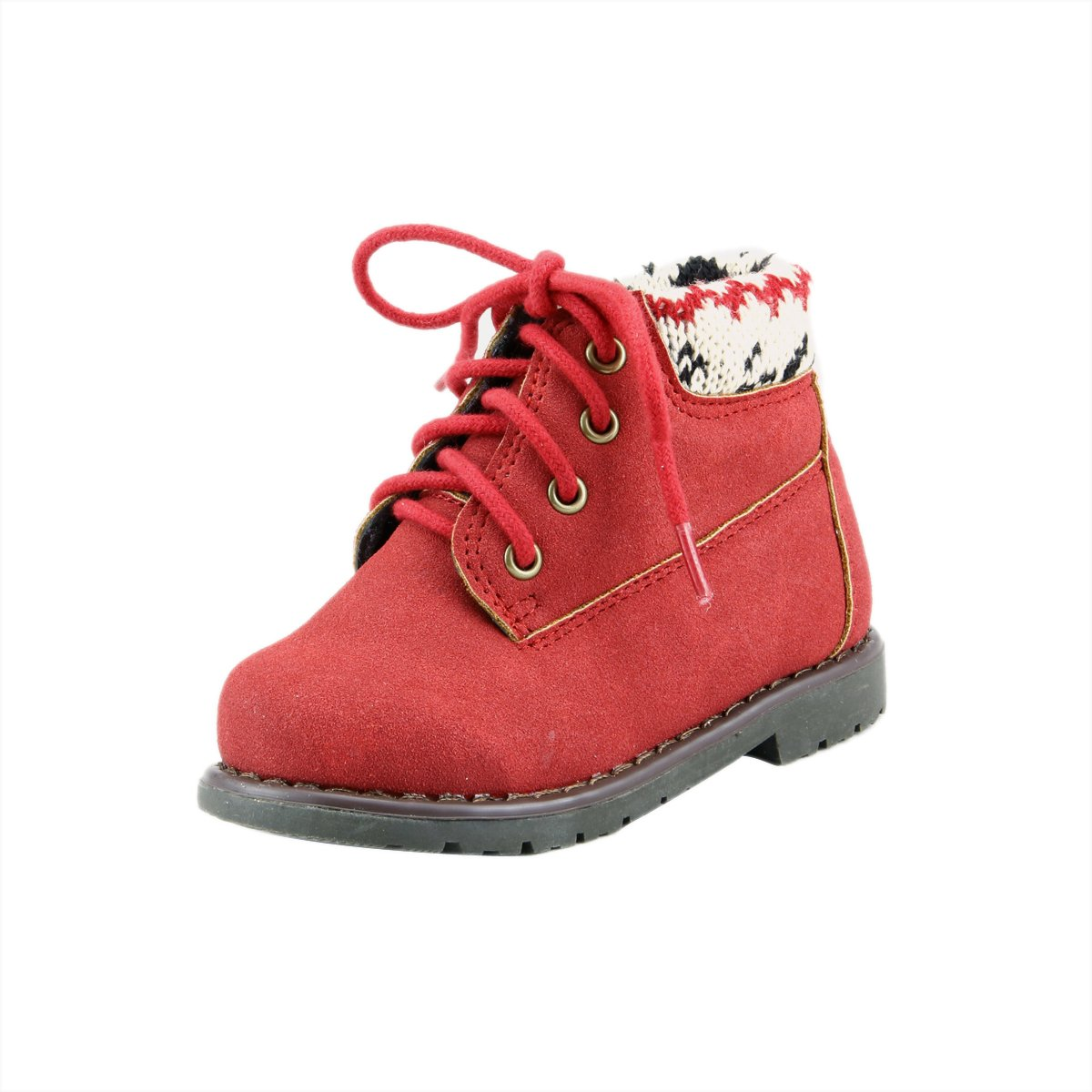 Cool Unisex Baby Boys Girls Winter Ankle Boots Biker Booties Toddler Little Kids 13, Red