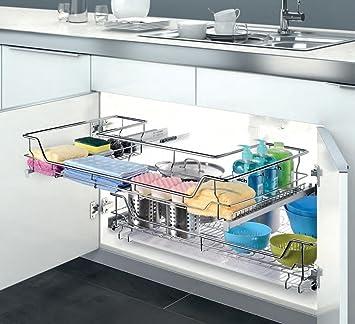 Unter Kuche Schrank Spule Ziehen Organisieren Regal Schublade Soft
