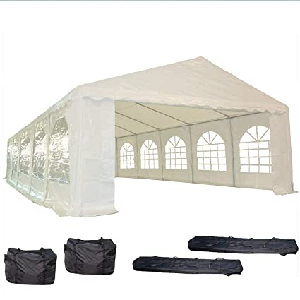 Amazon 32x16 Pe Party Tent White Heavy Duty Wedding Canopy