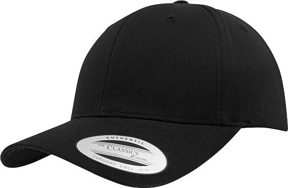 d004f4281ce434 Flexfit Damen und Herren Baseball Caps Curved Classic Snapback Cap, Farbe  Schwarz