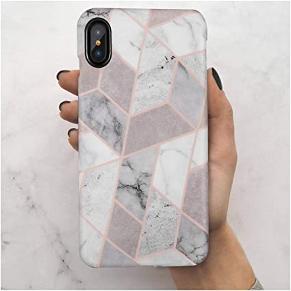 4f6563f92a7b1 iPhone X Case,iPhone Xs Case,Geometric Grey Marble,LUMARKE Slim-Fit TPU  Clear Bumper Flexible Rubber Silicone Rugged Thin Protective Phone Case  Cover ...
