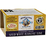 Henry and Lisa's Natural Seafood Low Sodium Solid White Albacore Tuna Can, 5 Ounce