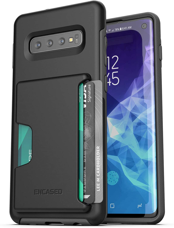 Samsung S10 - Funda Tipo Cartera para Samsung Galaxy S10 (2019 con Tarjetero), Color Negro: Amazon.es: Electrónica