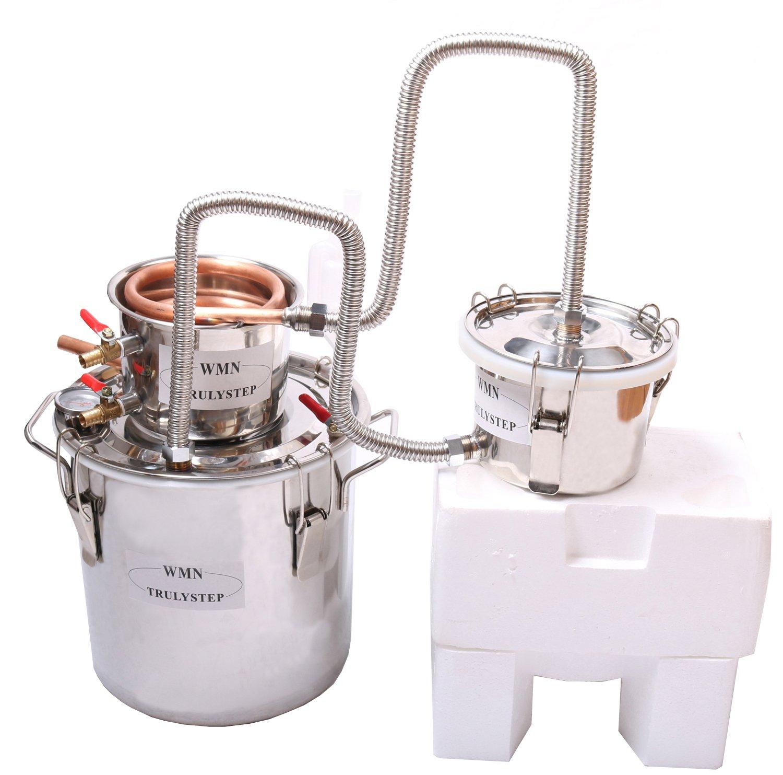 3 Pots DIY 2 Gal 10 Litres Copper Alcohol Moonshine Ethanol Still Spirits Boiler Water Whisky Distiller by WMN_TRULYSTEP
