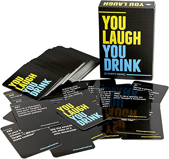 Amazon.com: You Laugh You Drink - The Drinking Game for People Who Can't  Keep a Straight Face [A Party Game]: Toys & Games