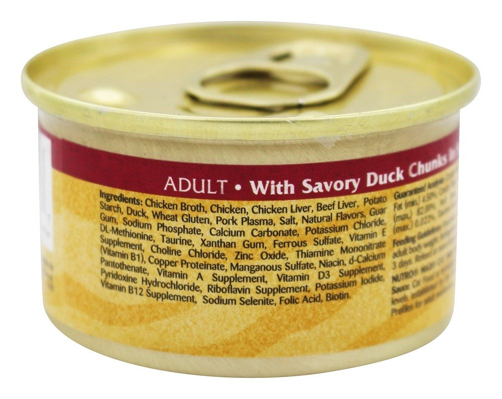 Nutro - Max Cat Adult Canned Cat Food with Savory Duck Chunks in Sauce - 3 oz.: Amazon.com: Grocery & Gourmet Food