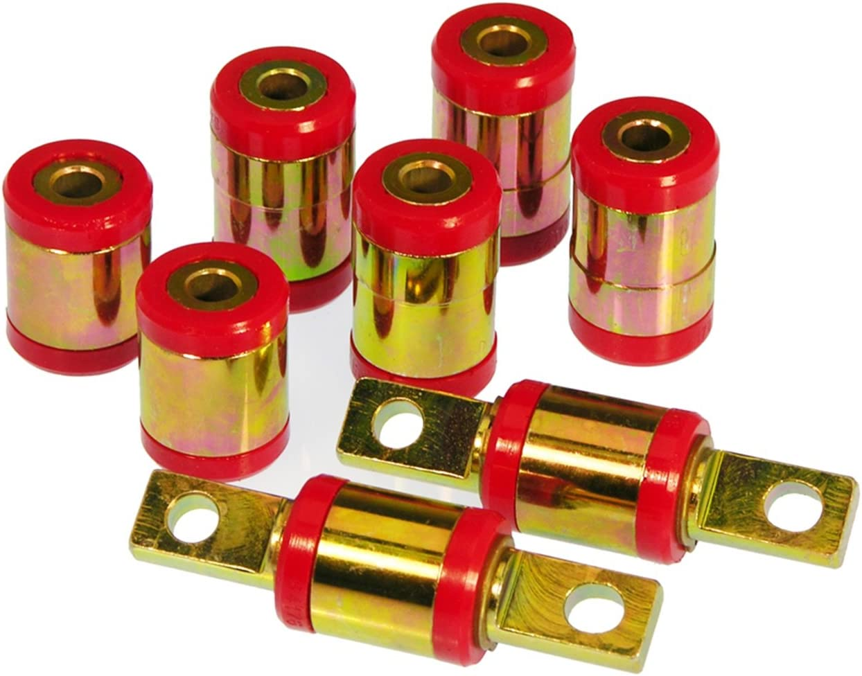 Prothane 8-310 Red Rear Upper and Lower Control Arm Bushing Kit