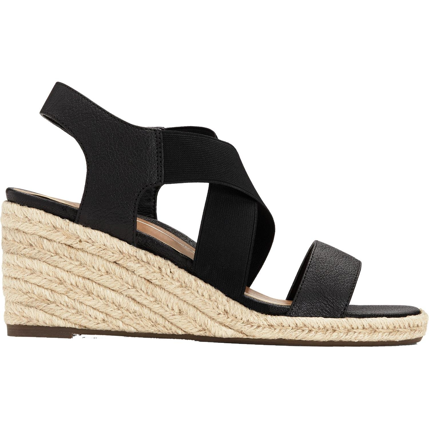 Vionic Tulum Ainsleigh - Womens Wedge Sandal Black - 7 Medium by Vionic