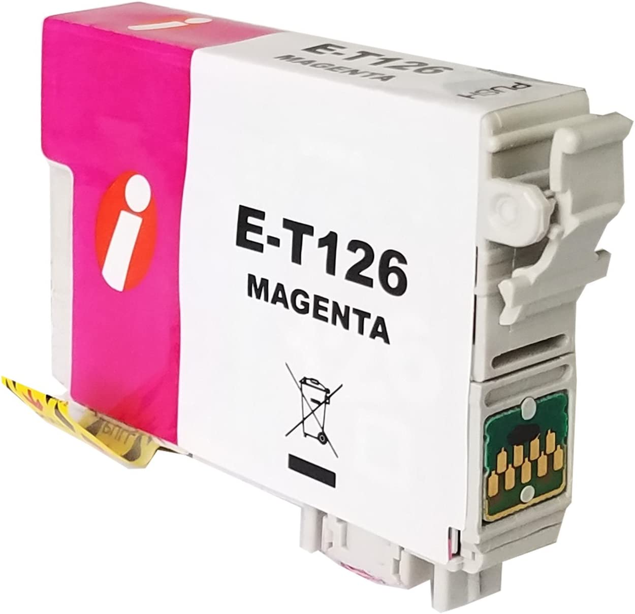 INK4WORK 3 Pack Remanufactured Magenta Ink Cartridge Replacement for Epson 126 T126 for Workforce 435 520 545 635 645 WF-3520 WF-3530 WF-3540 WF-7010 WF-7510 WF-7520 Magenta, 3-Pack